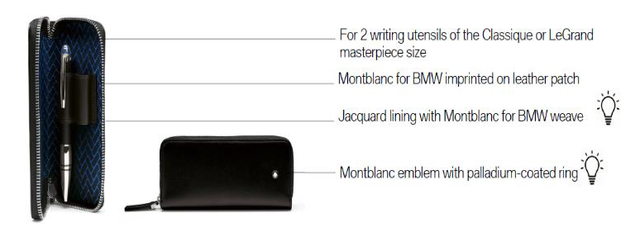 MONTBLANC for BMW Pen Pouch - BMW (80-21-2-450-924)