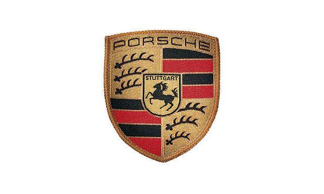Crest Sew on Badge - Black/Red/Yellow - Porsche (WAP-107-067-14)