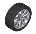"F30/31/32/33/36 3 & 4 Series 17"" Style 413 Silver Winter Wheel/Tire - 7.5x17 - BMW (36-11-2-448-005)"