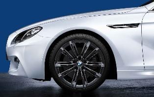"F10, F12/13/06 M Performance V-Spoke 20"" Style 464M Liquid Black Wheel/Tire Set - vehicles 9/2010 and on"