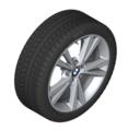"F22/23 2 Series 18"" Style 385 Silver Winter Wheel/Tire - 7.5x18"