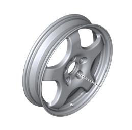 Emergency Wheel, Light Alloy - 5Bx19 ET:-2 - BMW (36-11-6-880-744)