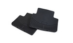 E46 3 Series All Weather Rubber Floor Mats - Rear Set