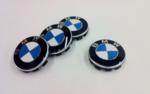 Wheel Center Cap with BMW Roundel Emblem & Chrome Ring