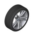 """F10 M5, F12/13/06 M6 20"""" Style 409M Silver Winter Wheel/Tire - 9x20 ET:32"""