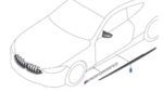 G14/15 8 Series, F90/91 M8 M Performance Carbon Fiber Rocker Panel Cover - Left - BMW (51-19-2-464-417)
