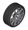 "G32 6 Series GT, G11/12 7 Series 20"" Style 649i Ferric Grey Winter Wheel/Tire - 8.5x20"