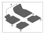 G01/G02 X3/X4 M Performance Floor Mats Set - BMW (51-47-2-457-264)