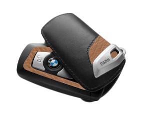 Key Case - Luxury Line (Black/Brown) - BMW (82-29-2-219-917)