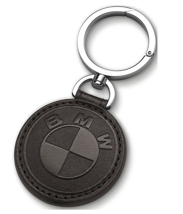 BMW Leather Key Ring - Black