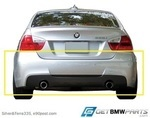 E90 3 Series M Sport Rear Aerodynamic Retrofit Kit - BMW (PKE90MSPORTREAR)