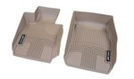 F10 5 Series All Weather Rubber Floor Liners, Front - Beige