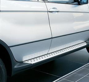 E53 X5 Brushed Aluminum Running Boards Kit - BMW (51-71-0-017-315)