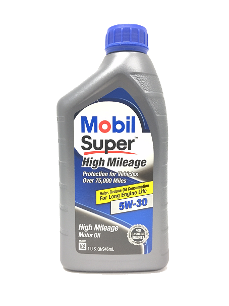 Mobil Super 5W-30 High Mileage Motor Oil - 1 qt