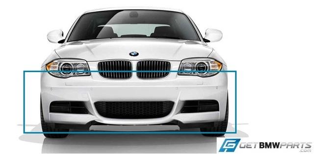 E82/88 1 Series M Sport Front Aerodynamic Retrofit Kit - BMW (PKE82MSPORTFRONT)