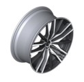 "22"" Style 742M Double Spoke Light Alloy Wheel, Silver Face, Jet Black Painted Interior - 10.5Jx22 ET:43 - BMW (36-11-8-090-014)"