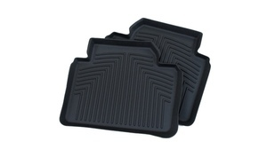 F10 5 Series All Weather Rubber Floor Liners, Rear - Black - BMW (82-11-2-286-146)