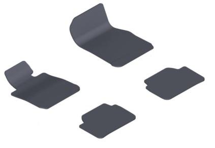 F22 2 Series Carpet/Velour Floor Mats - Black - BMW (51-47-7-336-062)