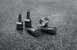 Anti-Theft Protection Wheel Lock Set - Black - Porsche (WHT-006-979-A)
