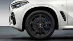 "G05 X5 M Performance 20"" Style 748M Jet Black Matte Wheel/Tire Set - BMW (36-11-2-459-598)"