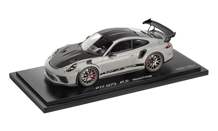 911 GT3 RS with Weissach package, 1:18, crayon, Limited Edition Model Car