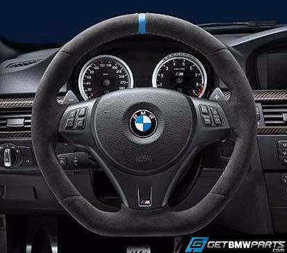 E8x, E9x M Performance Steering Wheel - Blue Stripe, for Paddle Shifters - BMW (32-30-2-212-773)
