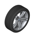 """F10 M5, F12/13/06 M6 19"""" Style 408M Silver Winter Wheel/Tire - 9x19 ET:32"""