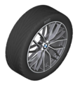 "F22/23 2 Series M Performance 19"" Style 405M Orbit Grey Wheel/Tire Set - vehicles 3/2014 and on"