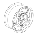 M Double Spoke Wheel Forged - 8.5x17 ET:41