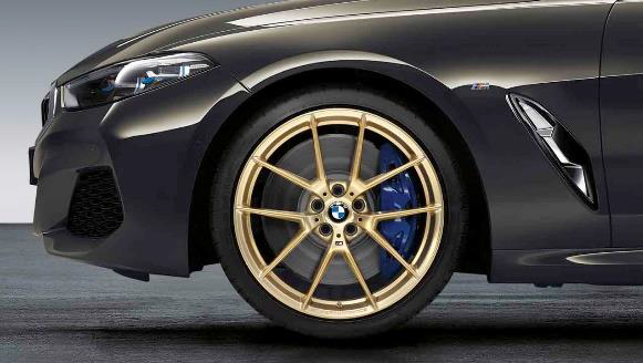 "​G14/15 8 Series M Performance 20"" Style 763M Frozen Gold Matte Wheel/Tire Set - BMW (36-11-2-459-552)"