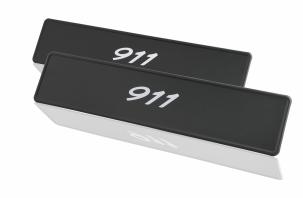 Porsche Classic Sticker Number Plate Set - 911 - Porsche (PCG-701-911-00)