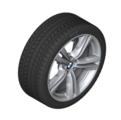 "F15 X5 19"" Style 467M Silver Winter Wheel/Tire - 9x19"