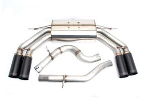 Dinan Free Flow Exhaust with Black Tips for Audi S3 (8V) - Dinan (D660-0064-BLK)
