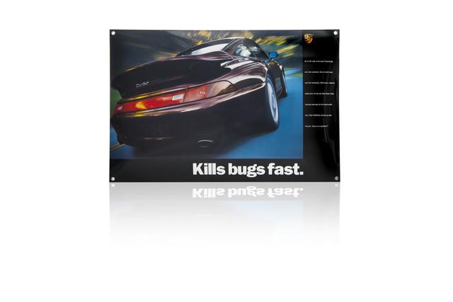 Porsche Enamel Sign - Kills Bugs Fast - Porsche (PCG-000-993-10)