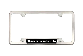 ​Brushed Stainless Steel License Plate Frame - There is no substitute - Porsche (PNA-708-001-00)