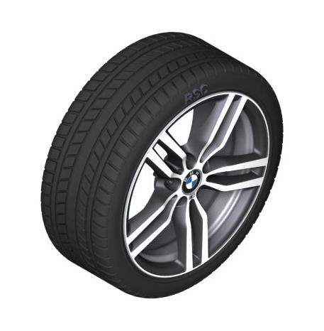"F16 X6 19"" Style 623M Ferric Grey Winter Wheel/Tire - 9x19 ET:18 - BMW (36-11-2-289-834)"