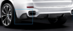 F15 X5 M Performance Carbon Fiber Rear Flaps - Left