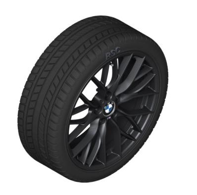 "F30/31/32/33/36 3 & 4 Series M Performance 18"" Style 405M Black Winter Wheel/Tire - 8x18 - BMW (36-11-2-289-748)"