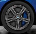 """F90 M5 19"""" Style 705M M Double Spoke Winter Wheel/Tire, Ferric Gray - 9.5x19"""