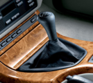 Black Leather Shift Knob - 5 spd