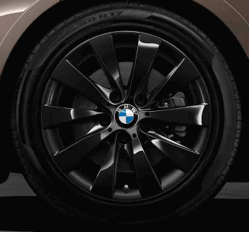 "F30/31/32/33/36 3 & 4 Series 17"" Style 413 Black Winter Wheel/Tire - 7.5x17 - BMW (36-11-2-448-006)"