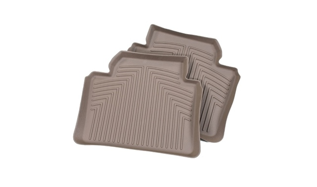 F10 5 Series All Weather Rubber Floor Liners, Rear - Beige - BMW (82-11-2-286-148)