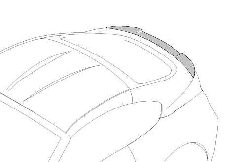E86 Z4 Rear Spoiler - BMW (51-71-0-414-770)