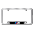 Brushed M Logo Plate Frame - Black Logo - BMW (82-12-2-456-422)