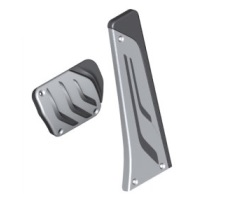 M Performance Stainless Steel Pedal Cover Set - Auto/Sport Auto Transmission - BMW (35-00-2-232-278)