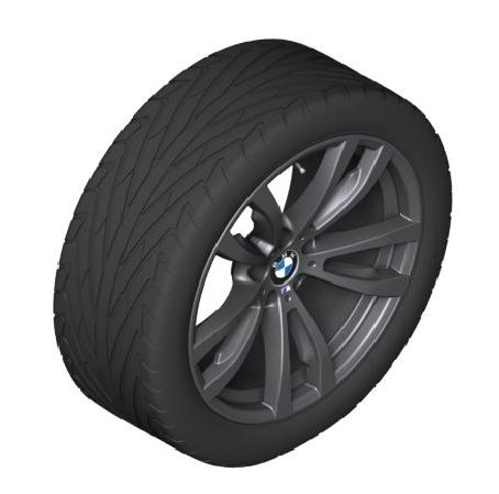 "20"" Style 469 M Double Spoke Light Alloy Rim - Jet Black - BMW (36-11-8-064-894)"