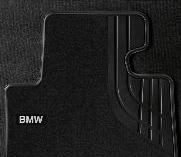 F32/33/36 4 Series, F82/83 M4 Carpeted Floor Mats, Front - Basic Line (Black) - BMW (51-47-2-348-199)