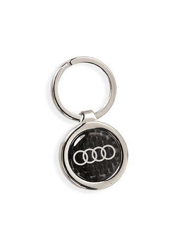 Round Carbon Fiber Keychain - Audi (ACM-890-8)