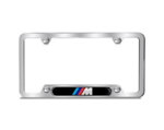 Brushed M Logo Plate Frame - Black Logo