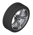 """F90 M5 19"""" Style 705M M Double Spoke Winter Wheel/Tire, Orbit Grey Polished - 9.5x19"""